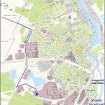 Карта города Нарва