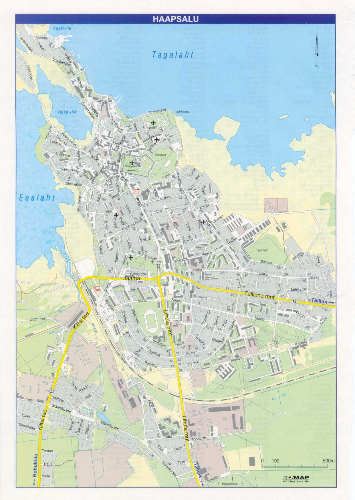Карта города Хаапсалу