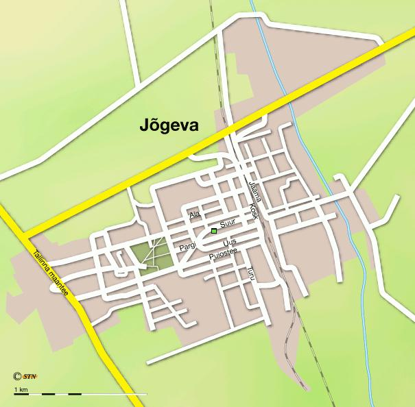 Карта города Йыгева