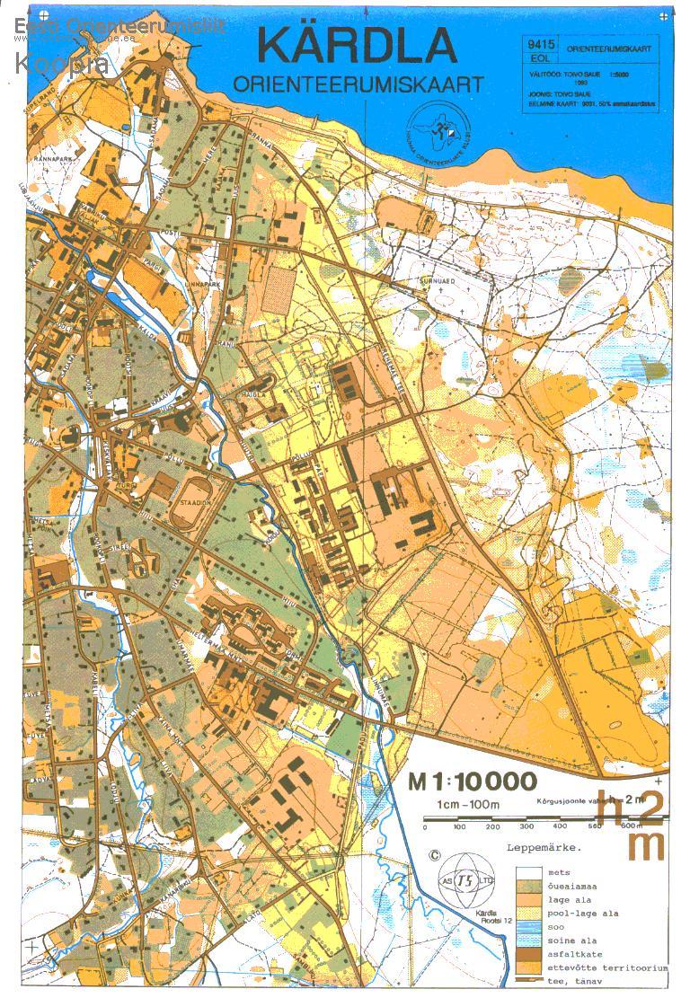 Карта города Кярдла