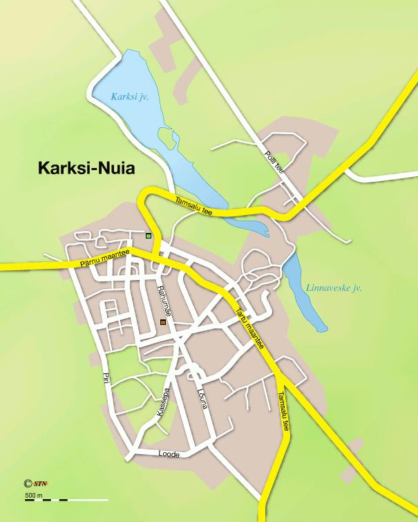 Карта города Каркси-Нуйа
