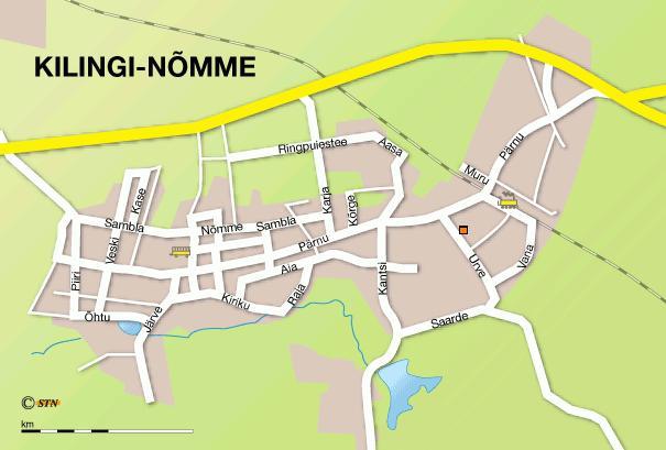 Карта города Килинги-Нымме