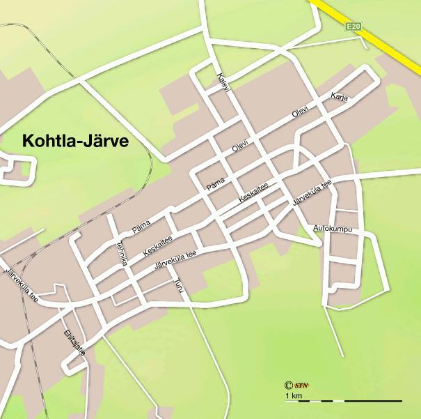 Карта города Кохтла-Ярве