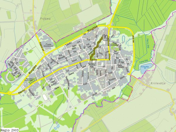 Карта города Пайде