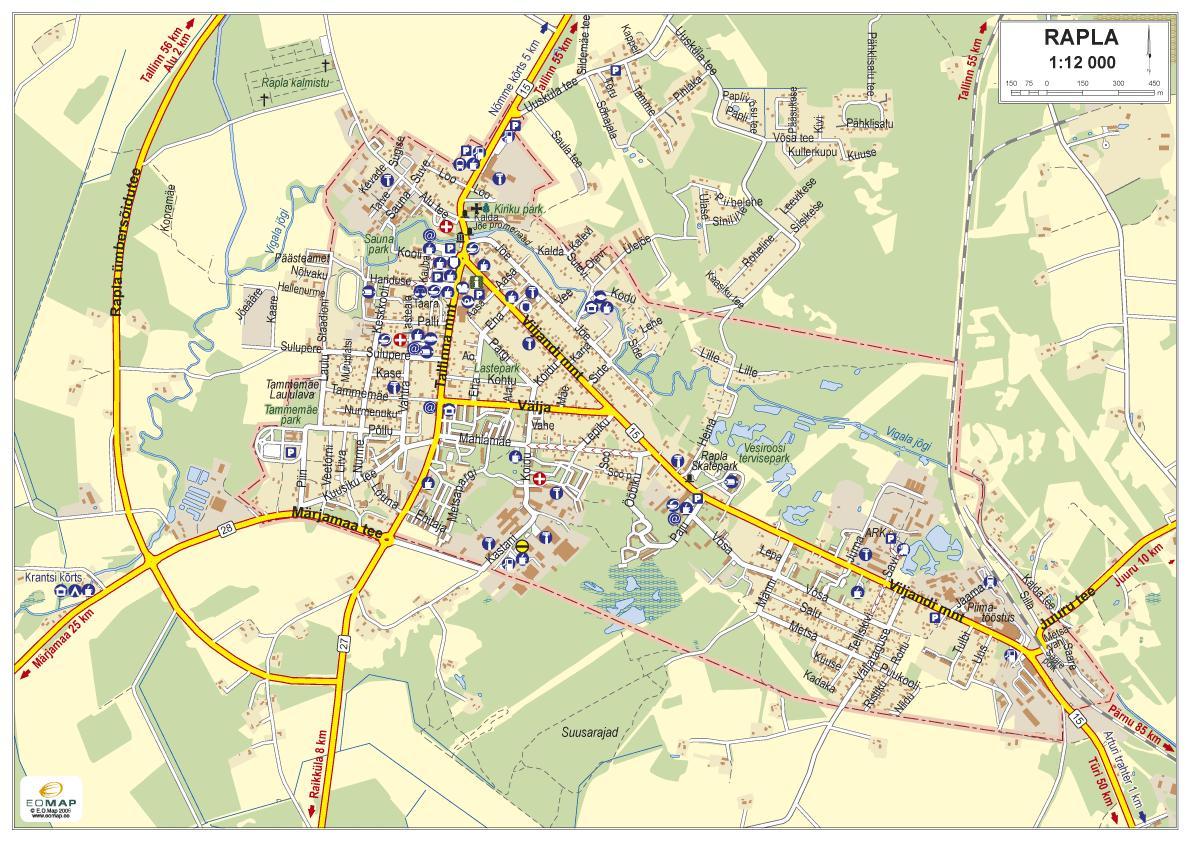 Карта города Рапла