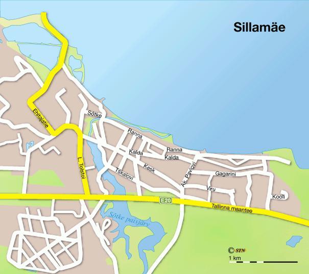 Карта города Силламяэ