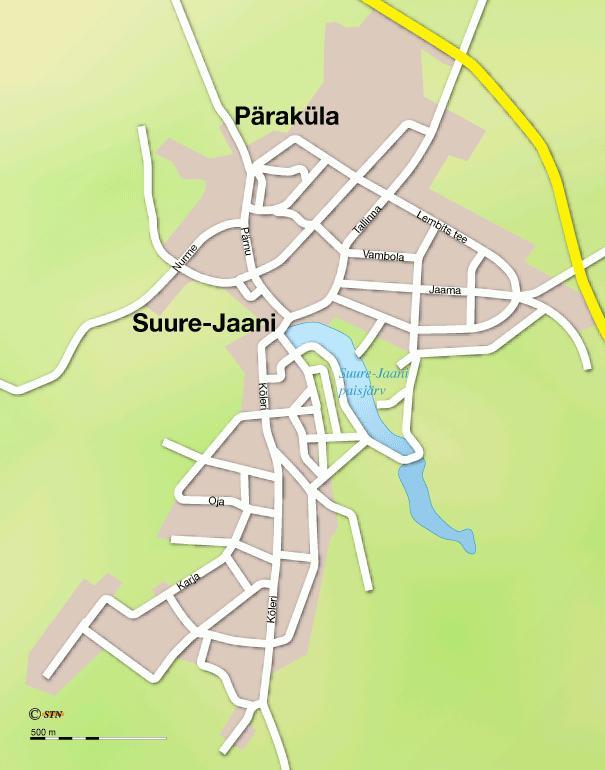 Карта города Сууре-Яани