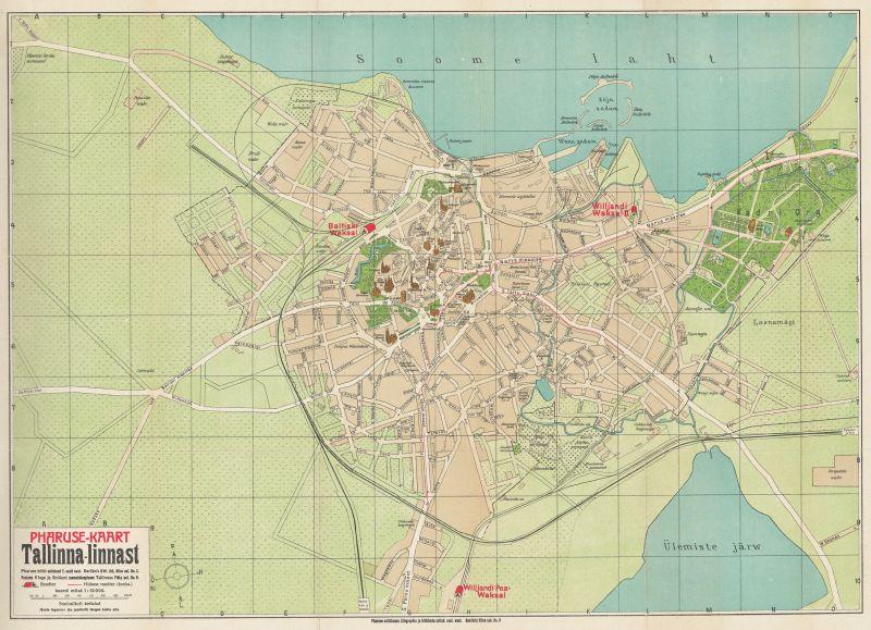 Карта города Таллин