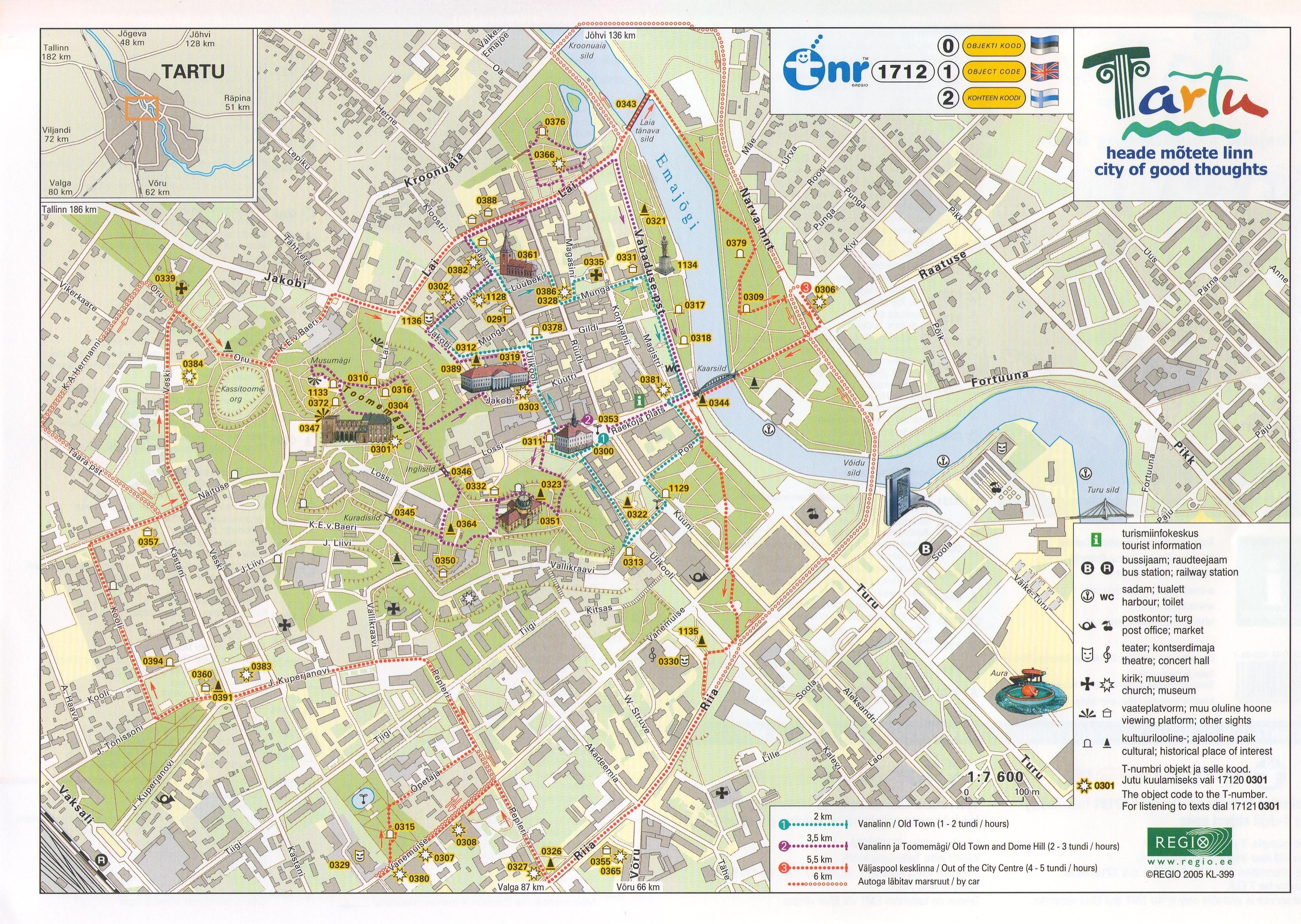 Карта города Тарту
