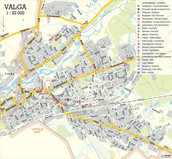 Карта города Валга