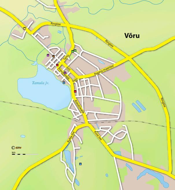 Карта города Выру