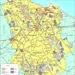 Топографическая карта уезда Ляэне-Вирумаа