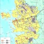 Топографическая карта уезда Ляэнемаа