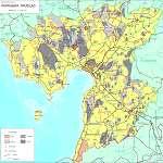 Топографическая карта уезда Пярнумаа