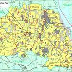 Топографическая карта уезда Пылвамаа