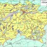 Топографическая карта уезда Вырумаа