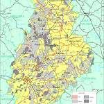 Топографическая карта уезда Ярвамаа