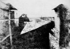 Вид из окна (Фотография Ньепса).